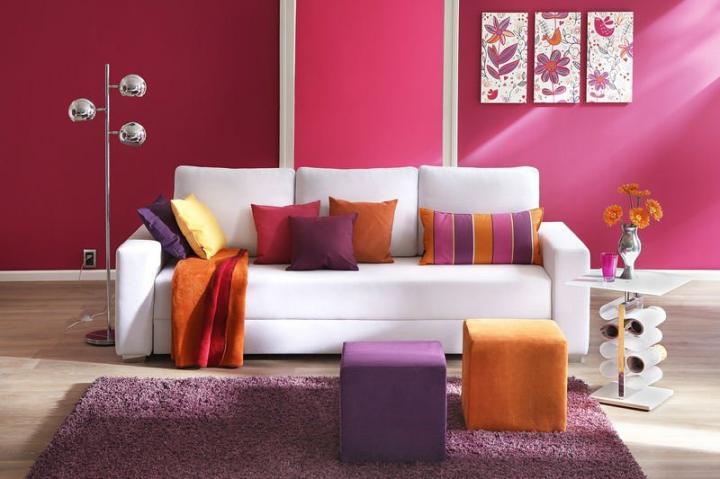 As cores na decora o de interiores ideias de cores para for Pared color cereza