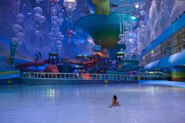 Beijing Water Park, el Nido e Pequim transformado em parque aquático