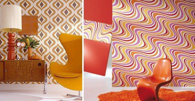 Ideias para uma decora o retro ao estilo dos anos 60 - Papel pintado anos 70 ...