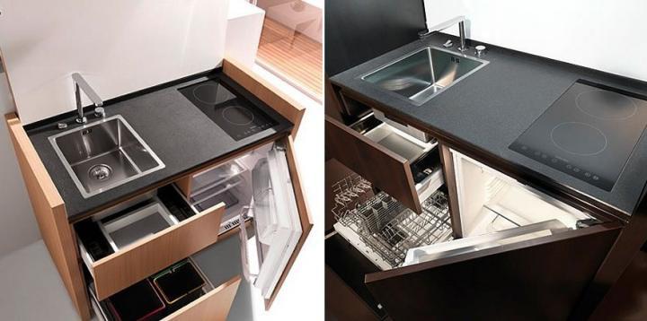 decoracao de interiores cozinha moderna: têm hoje em dia de criar soluções aptas para espaços pequenos