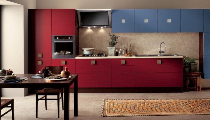 Cozinhas modernas cheias de cor Scavolini - I