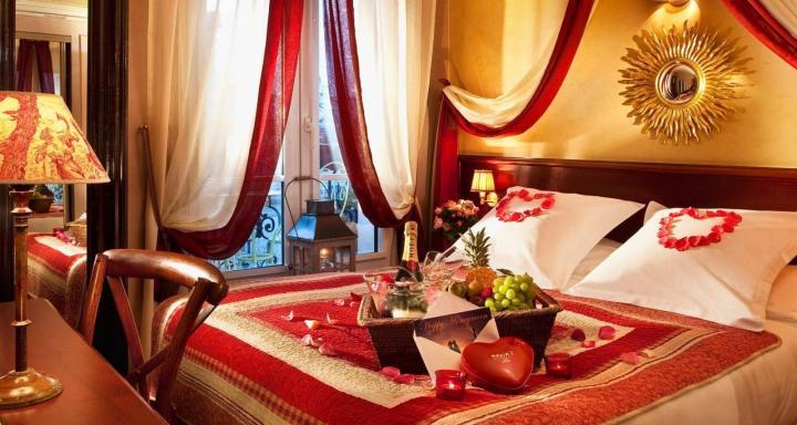 Decora o quarto para a noite de São Valentim