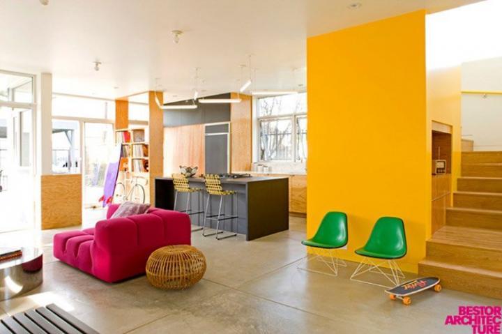 Decoração colorida de Bestor Architecture