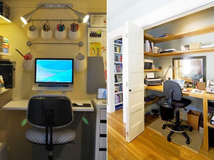 Escritório no armário