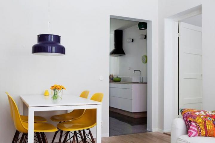 ideias decoracao apartamento baseado branco Decoração de um apartamento baseado no branco