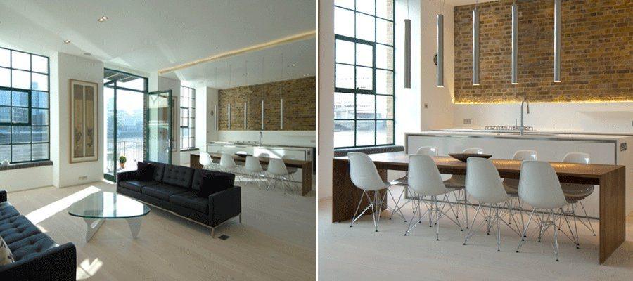 Antigo armaz m de londres convertido num apartamento for Apartamentos minimalistas pequenos