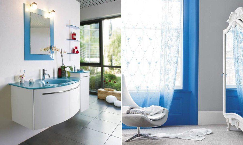 O azul na decoraç u00e3o de interiores (II) Decoraç u00e3o da casa  -> Decoração De Casas De Banho Em Azul
