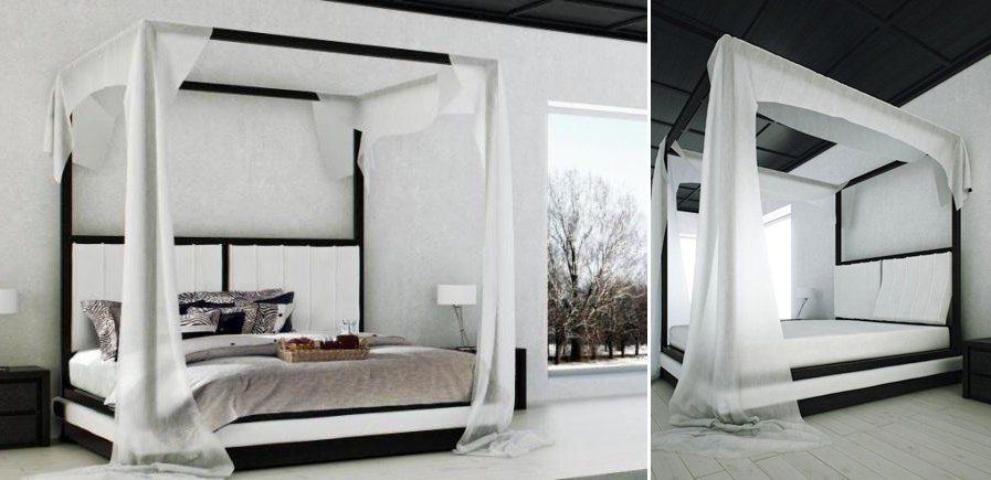 Camas com dossel de estilo moderno decora o da casa for Estilo moderno