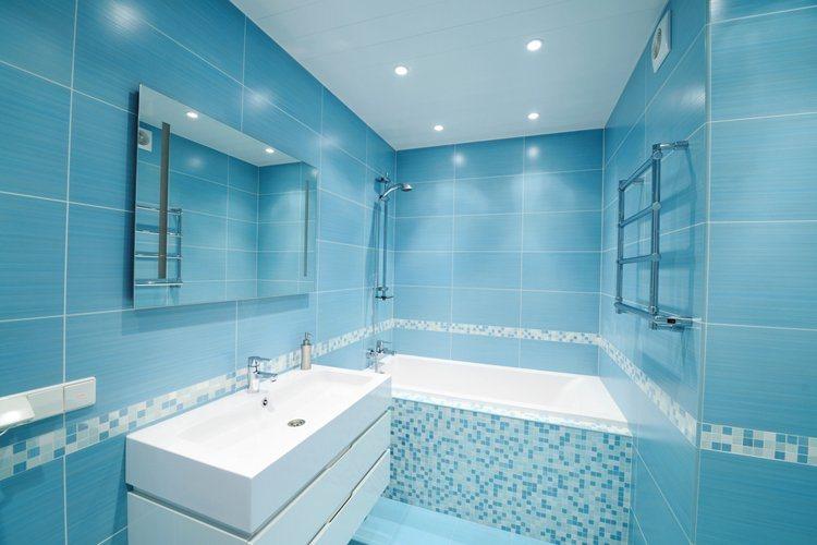 Tr u00eas estilos para redecorar a tua casa de banho Decoraç u00e3o da casa  -> Decoração De Casas De Banho Em Azul