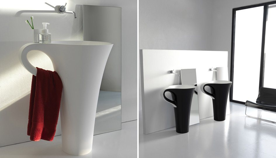 decoracao de interiores de casas modernas : decoracao de interiores de casas modernas:Lavatório Cup para uma casa de banho moderna. Decoração da casa.