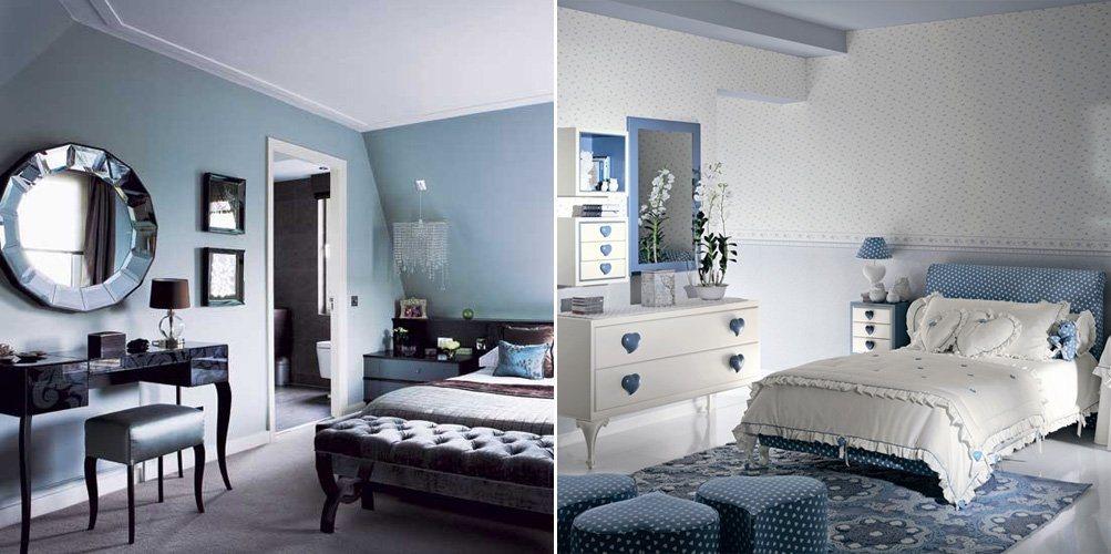 O azul na decora o de interiores ii decora o da casa for Cuarto azul con gris