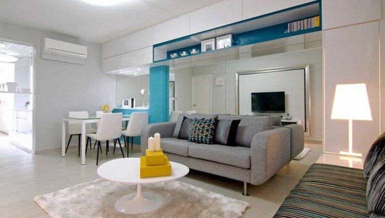 Como distribuir os m veis da sala de jantar decora o da for Extra small apartment living room ideas