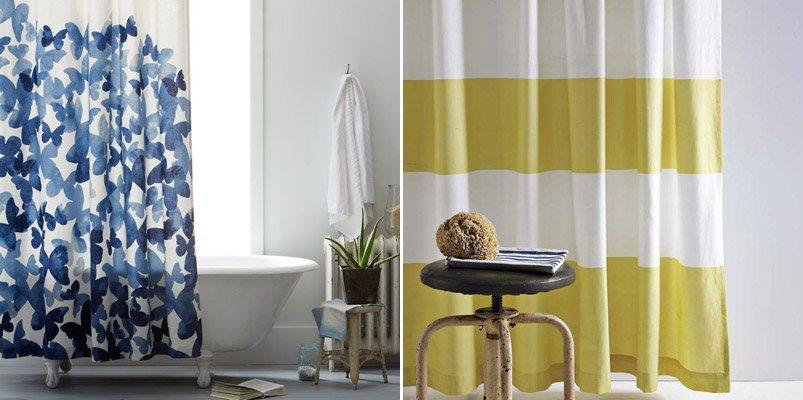 Cortinas de casa de banho de estilo retro moderno decora o da casa - Cortinas de casa ...