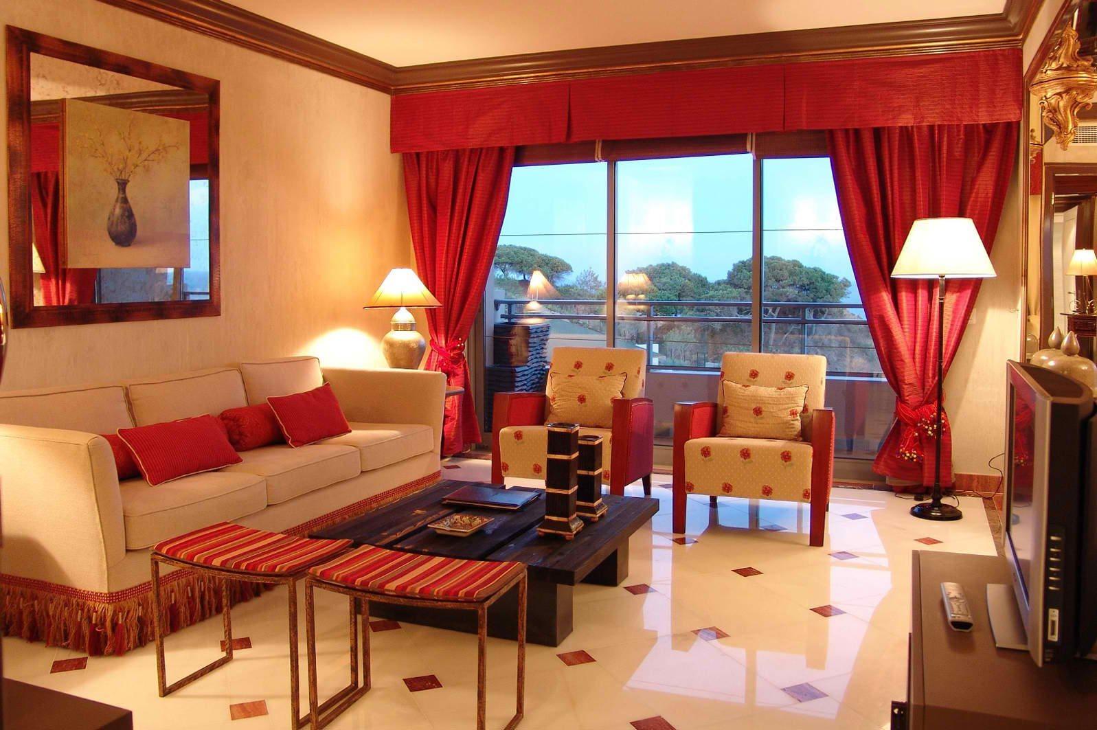 Cortinas para uma decora o vermelha decora o da casa - Cortinas de casa ...