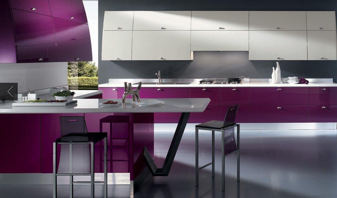 decoracao de interiores cozinha moderna:Cozinhas modernas cheias de cor Scavolini. Decoração da casa.