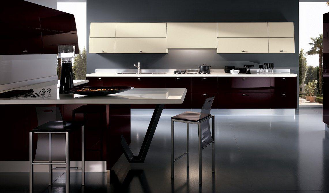 Cozinhas modernas coloridas scavolini cozinhas modernas for Casas modernas oscuras