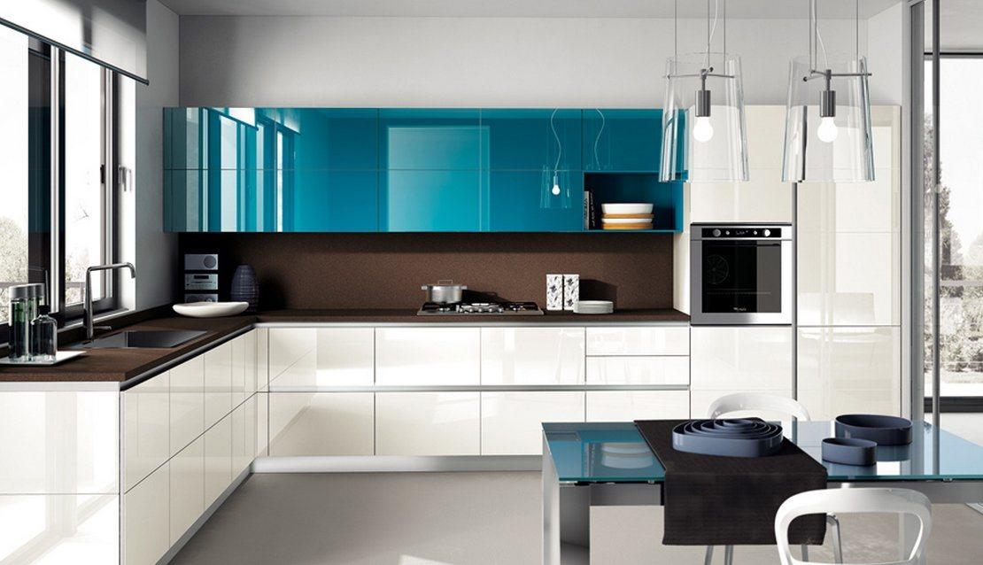 decoracao de interiores cozinha moderna:Cozinhas modernas cheias de cor Scavolini (II). Decoração da casa.