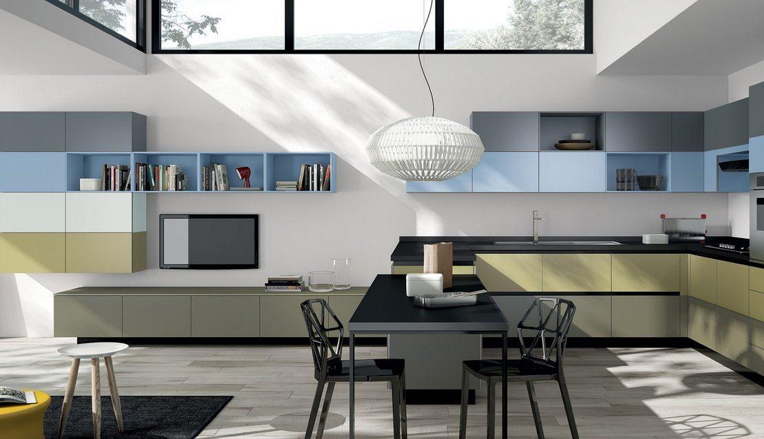 Imagens de cozinhas modernas e coloridas scavolini for Interiores de cocinas modernas