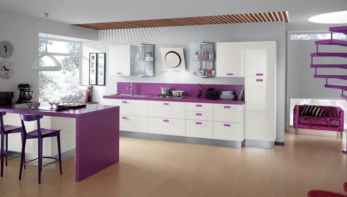 Cozinhas modernas cheias de cor scavolini ii decora o - Paredes de cocinas modernas ...