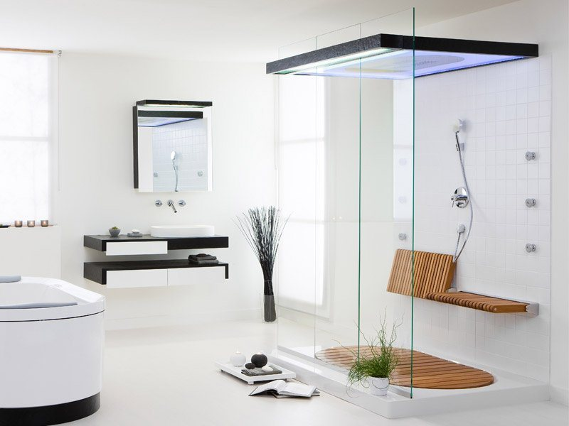Decorar Baños Grandes:Modern Bathroom Shower Designs