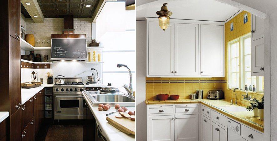 decoracao de interiores de cozinhas pequenas:Truques de decoração para cozinhas pequenas. Decoração da casa.