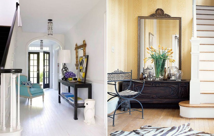 Conselhos para decorar o hall de entrada da casa - Decorar recibidores pequenos ...