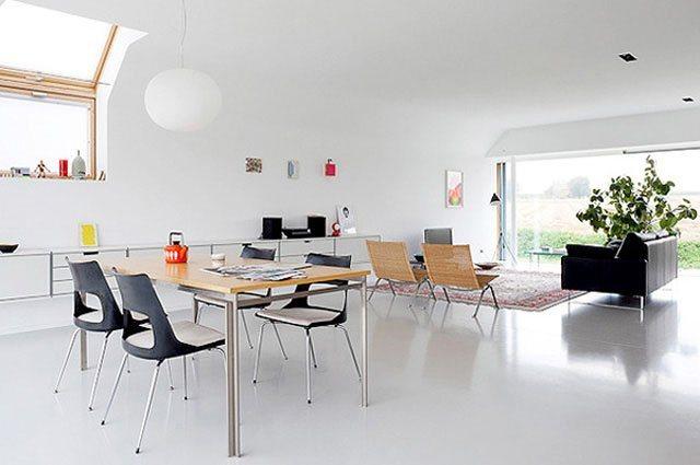 Imagens de uma decora??o minimalista baseada no branco ...