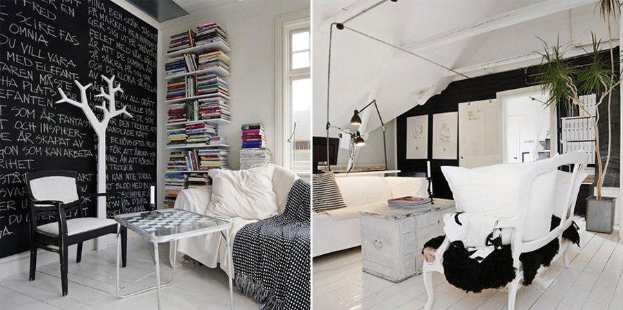decoracao moveis branco: que podemos tirar ideias para criar uma decoração a preto e branco