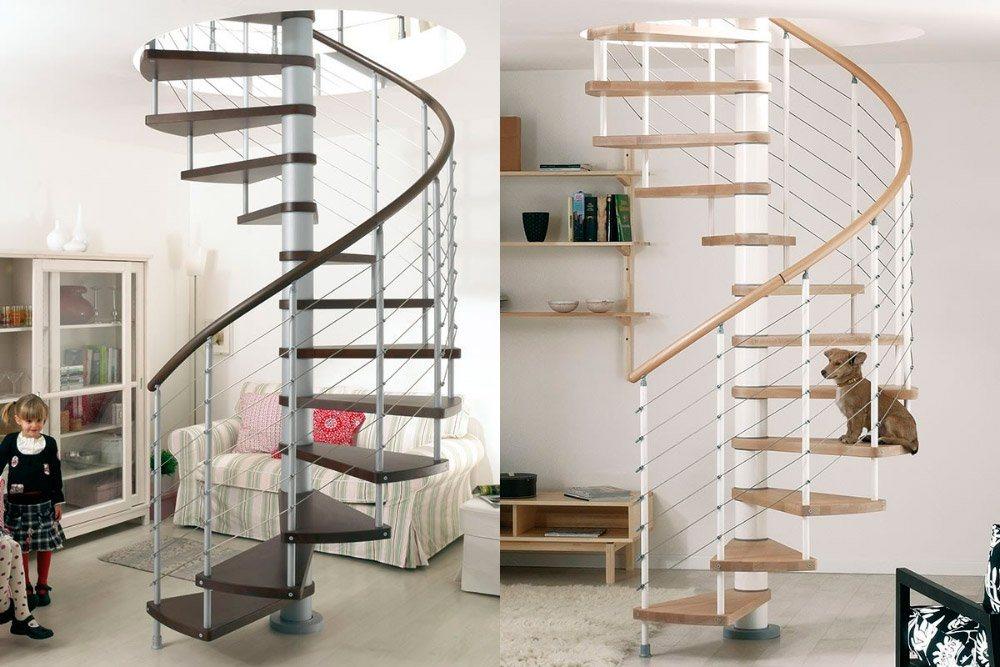Escadas em caracol ideais para duplex sem espa o for Escaleras de duplex