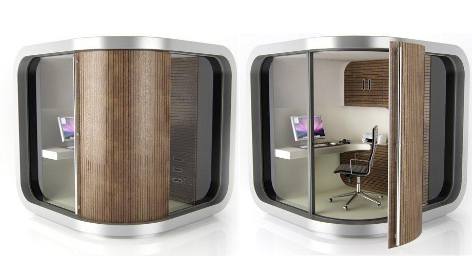 Officepod cabine para trabalhar a partir da tua pr pria for Oficina portatil