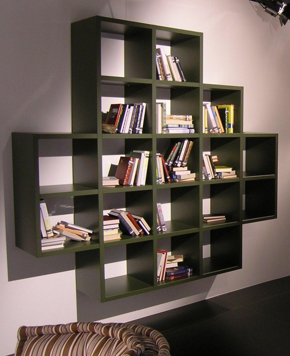 Estantes modernas lago decora o da casa - Muebles para libros modernos ...