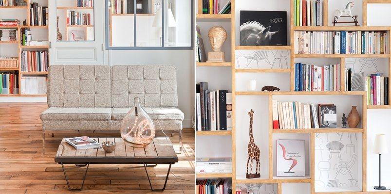 decoracao cozinha loft:Loft parisiense minimalista de 60 m2. Decoração da casa.