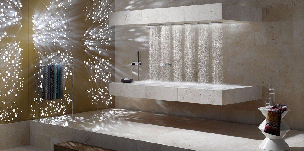 horizontal shower da dornbracht decora o da casa. Black Bedroom Furniture Sets. Home Design Ideas