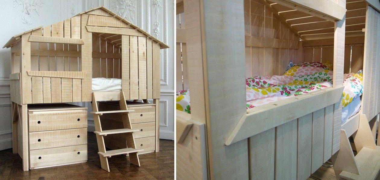 Ideias de camas para quartos infantis ideias de camas para quartos infantis - Camas en forma de casa ...