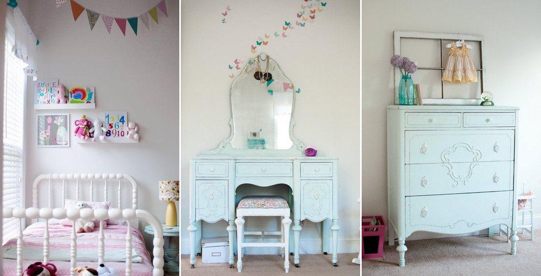 Ideias para a decoração de um quarto de menina Decoração