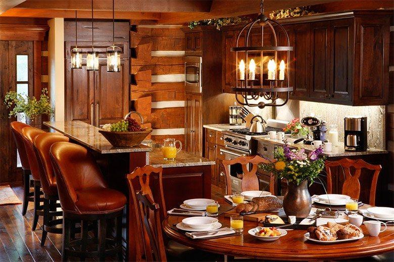 Ideias para criar uma decora o r stica decora o da casa for Casa moderna black walnut luxury vinyl plank