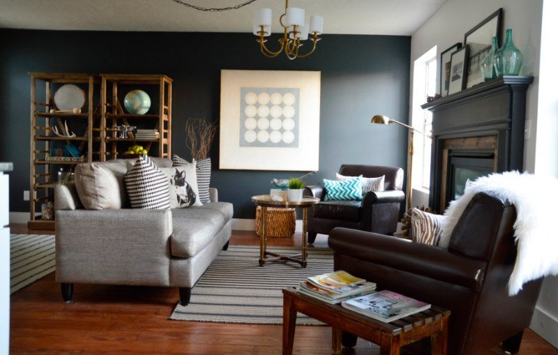 Living Room Curtains Ideas White And Slate Blue