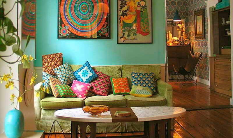decoracao de sala retro:Ideias para salas de estilo vintage. Decoração da casa.