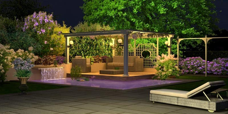 Ilumina o do jardim decora o da casa - Decoracion de exteriores jardines ...