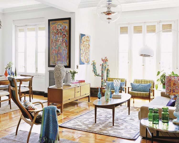 Decora o retro com toques modernos decora o da casa - Decoracion de salones vintage ...