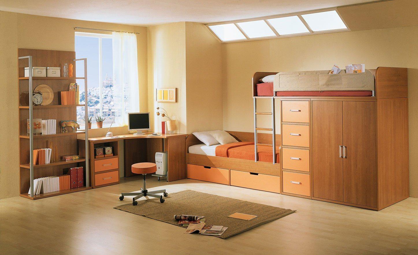 Quartos infantis feng shui decora o da casa - Space saving ideas for small childrens bedrooms minimalist ...
