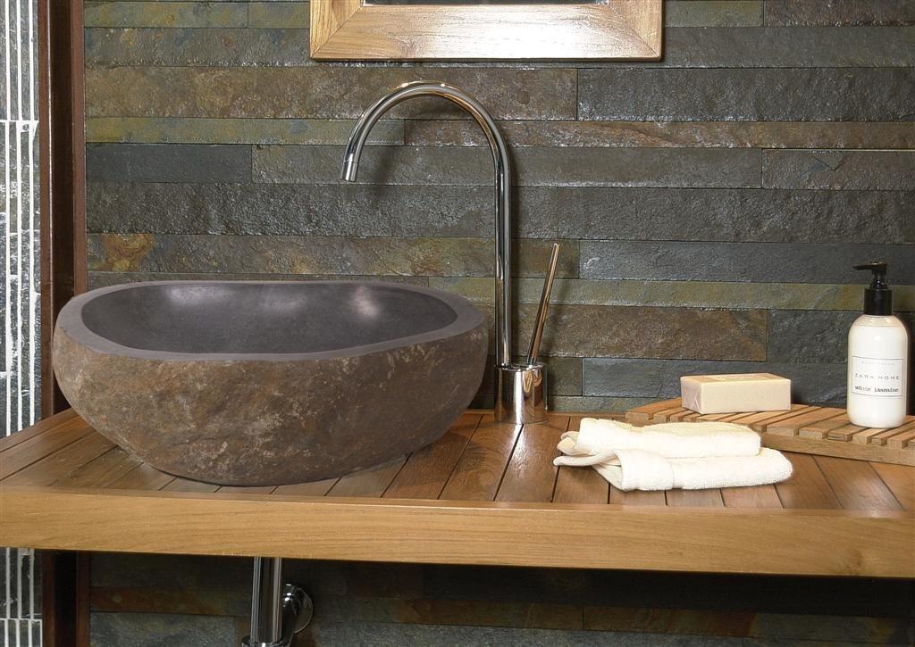 Materiais para o lavat rio decora o da casa - Lavabos de piedra rusticos ...