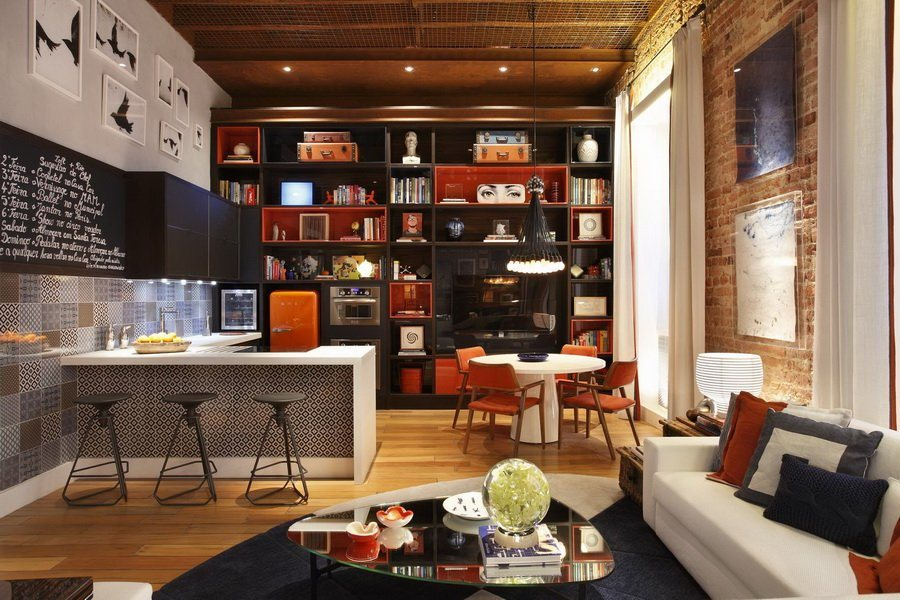 decoracao cozinha loft:Apartment Loft Interior Design Ideas