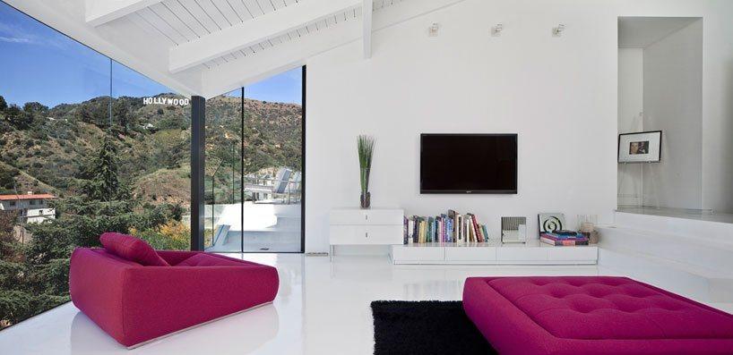 Nakahouse casa moderna sobre a colina de hollywood hills for Casas modernas hollywood