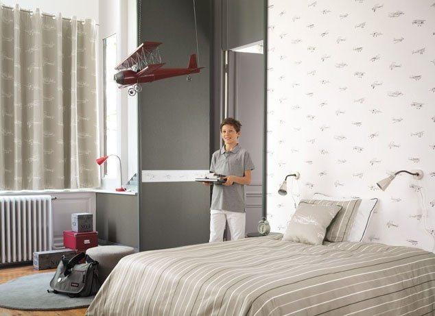 Papel de parede para quartos infantis casadeco papel de - Papeles para habitaciones juveniles ...