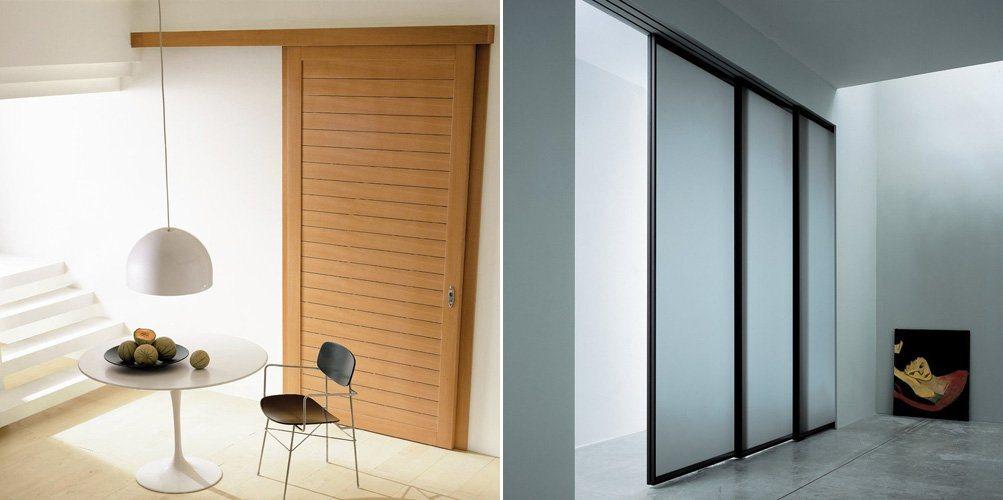 Portas de correr para o interior de nosso lar decora o for Puertas de madera correderas exteriores