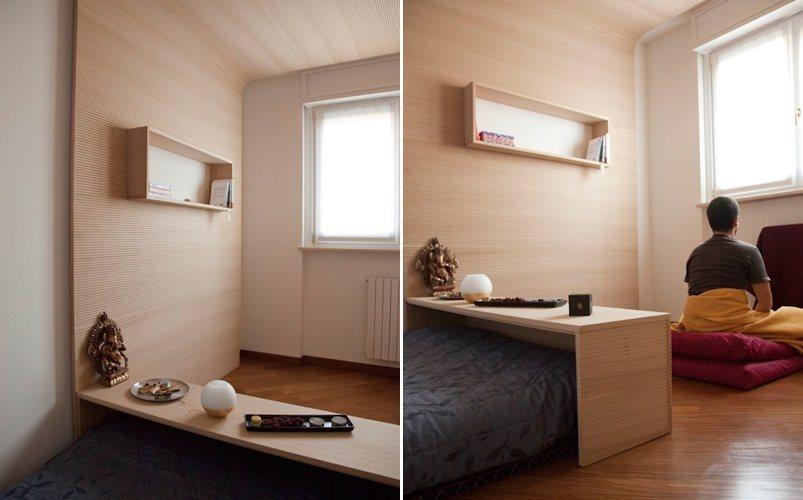 Quarto para medita o por bianco studio decora o da casa for Estudios minimalistas decoracion