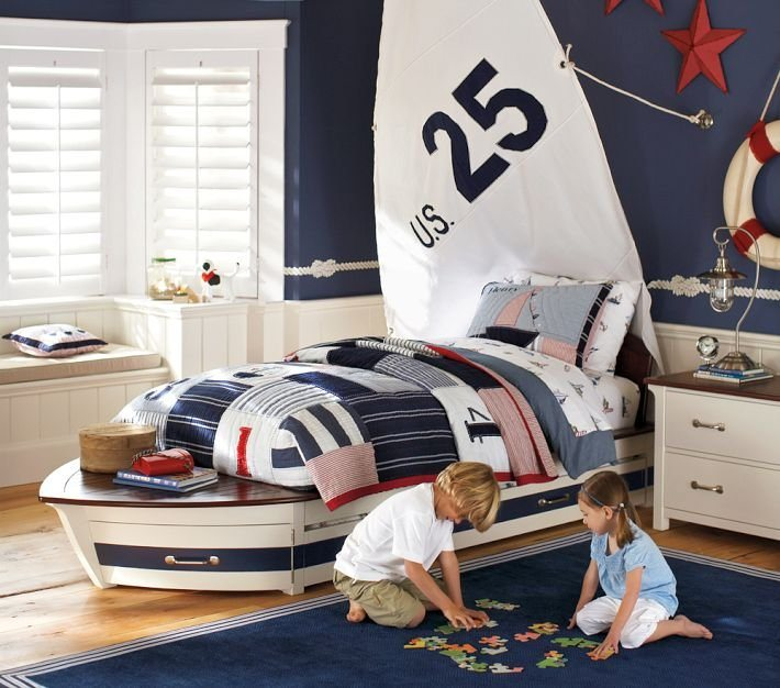 Small Kids Bedroom Design Nautical Bedroom Interior Design Art Deco Bedroom Furniture Kids Bunk Bed Bedroom: Fotos De Quartos Infantis De Estilo Marinheiro. Quartos