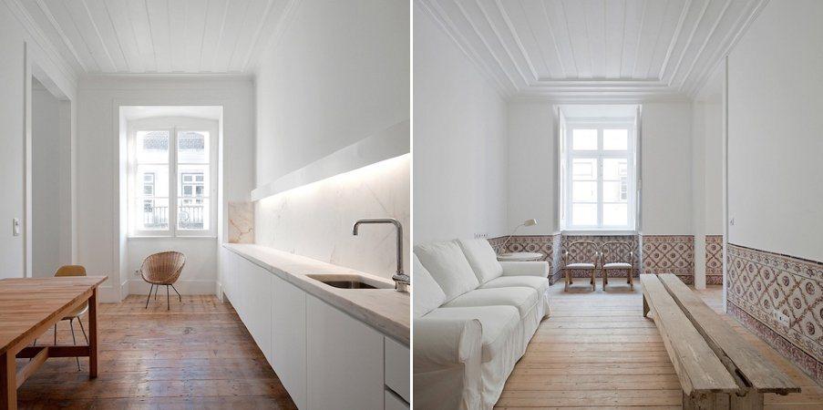 Reabilita o minimalista e moderna de um edif cio de Apartamentos pequenos minimalistas