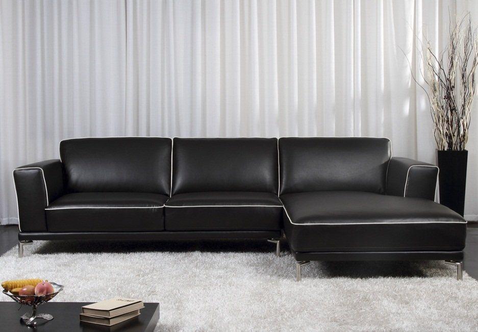 Sofás com chaise long na Venta-Unica. Decoração da casa.